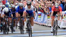 Was dit het WK wielrennen of het WK kersmiskoers? Noorse regie blundert in volle finale