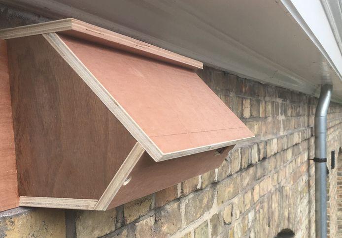 De stad installeert speciale nestkastjes voor gierzwaluwen.
