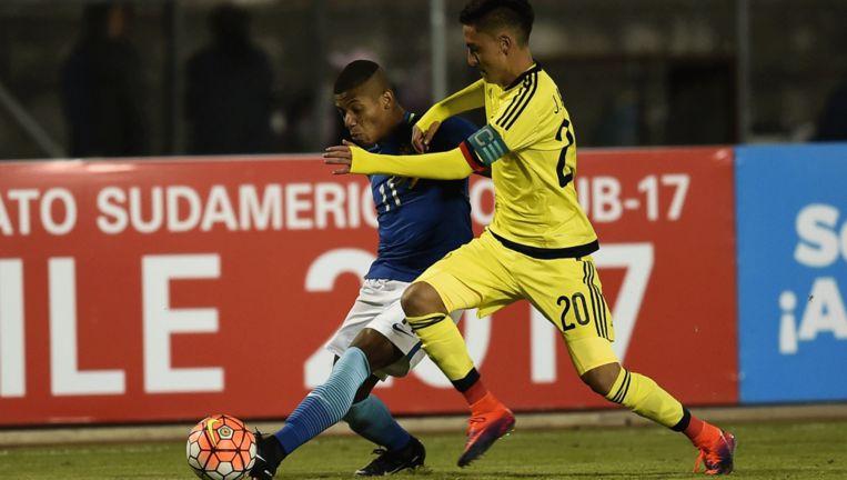 David Neres in actie voor Brazilië onder 20 jaar bij de Zuid-Amerikacup. Beeld anp
