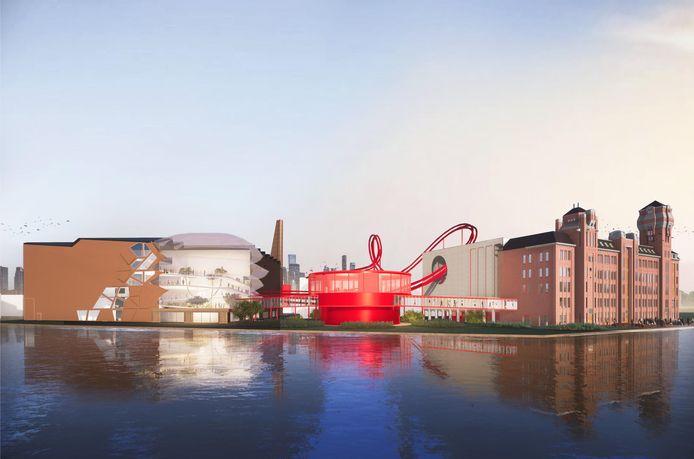 Tony's Chocolonely heeft een eerste beeld getoond van de nieuwe hoofdzetel die het wil bouwen in Zaanstad.