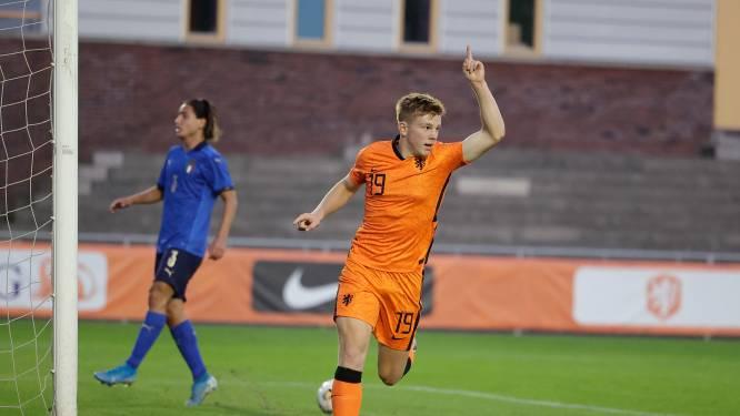 De Graafschap-spits Devin Haen bezorgt Oranje O18 met twee treffers zege op Oostenrijk
