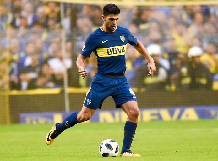 Lisandro Magallan in het shirt van Boca Juniors.