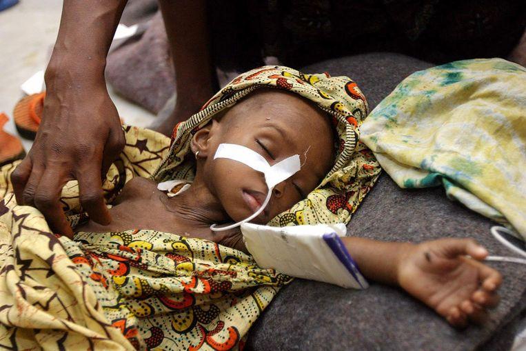 Archiefbeeld. Malariaslachtoffer Edith Gboe uit Liberia (28/07/2003) Beeld EPA