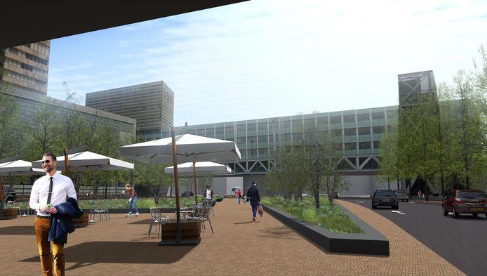 Op de nieuwe overkapping van de Utrechtsebaan komt een groen plein.