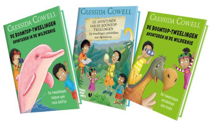 Tijdens de Kinderboekenweek zitten er zes verschillende leesboekjes van de Boomtop-tweelingen van schrijfster Cressida Cowell als cadeautje in de Happy Meals van McDonald's.
