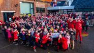 Sinterklaas gaat los met leerlingen Vrije Basisschool Boekt op Rode Neuzen Dag