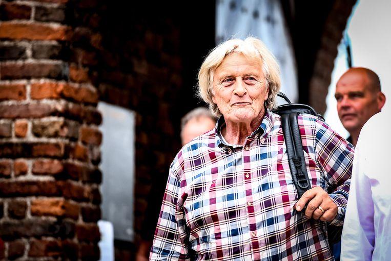 Rutger Hauer bij de première van de nooit eerder vertoonde aflevering van Floris in 2018.  Beeld ANP