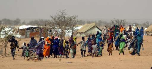 In Darfoer zijn naar schatting 2,5 miljoen mensen op de vlucht