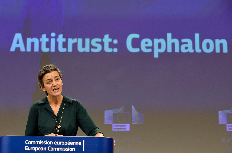 Commissaris Margrethe Vestager. Beeld EPA