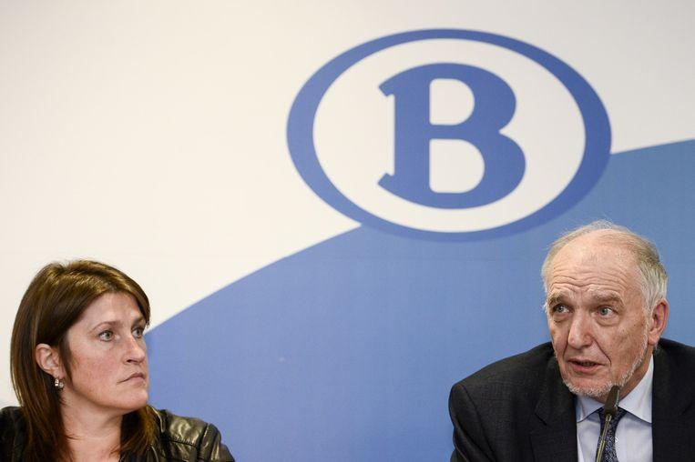 Jo Cornu en minister van Mobiliteit, Jacqueline Galant. Beeld