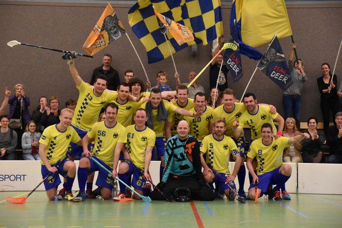 Het kampioensteam van Tilburg dat ruim een jaar geleden promotie naar de eredivisie afdwong.