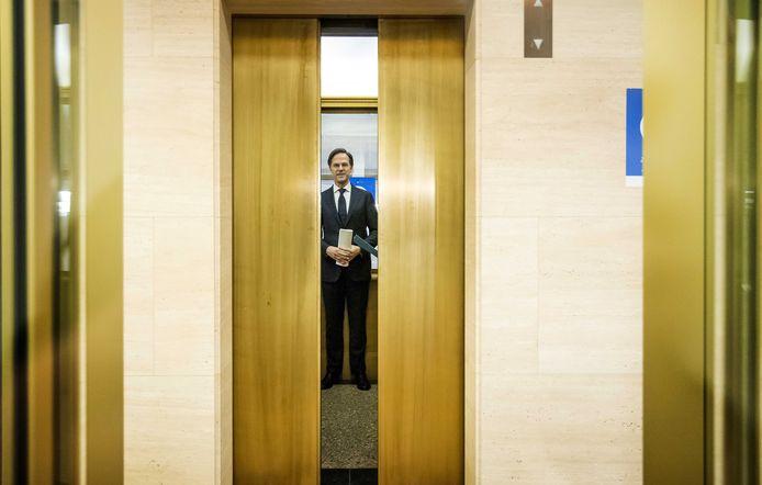 Mark Rutte na afloop van de persconferentie.