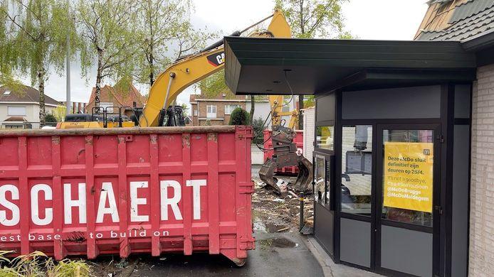 McDonald's Sint-Kruis gesloopt