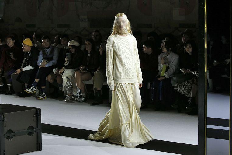 Modeshow van Ann Demeulemeester tijdens Paris Fashion Week in 2019. Beeld BrunoPress/Wenn