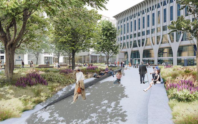 Het voorontwerp van het nieuwe Spuiplein in Den Haag.