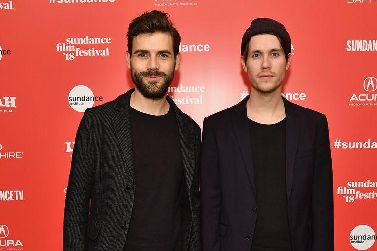 Regisseurs Moritz Riesewieck en Hans Block bij de première van hun film The Cleaners, tijdens het Sundance Film Festival, 19 januari in Park City, Utah. Beeld Getty