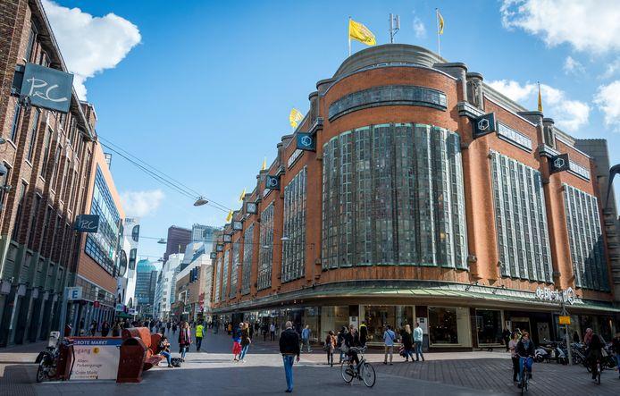 De Bijenkorf in Den Haag is een van de vele winkels die afgelopen weken de deuren sloten.