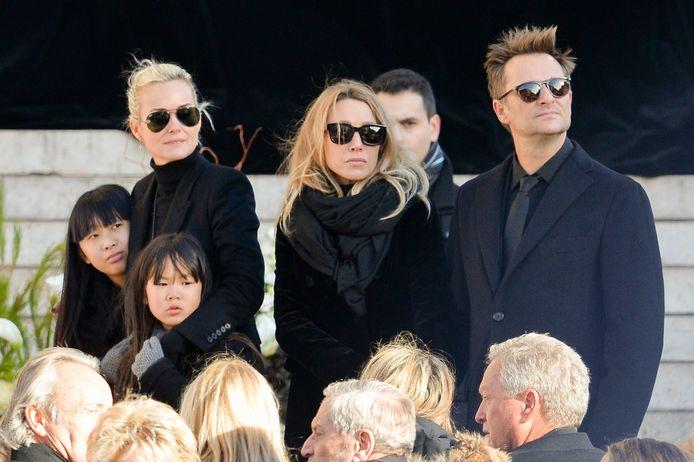Laeticia Hallyday, Laura Smet et David Hallyday à l'enterrement de Johnny.