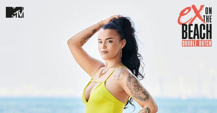 Julie uit 'Ex on the Beach: Double Dutch' uit 2020.