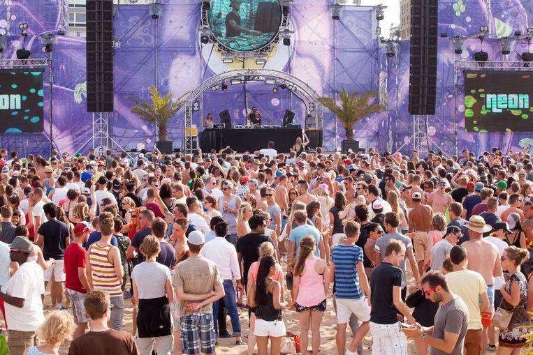 Op het Ostend Beach Festival werden de meeste beklaagden betrapt.