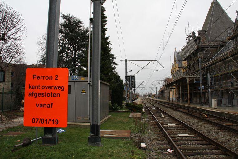 Perron 2 bij Veurns station wordt verhoogd