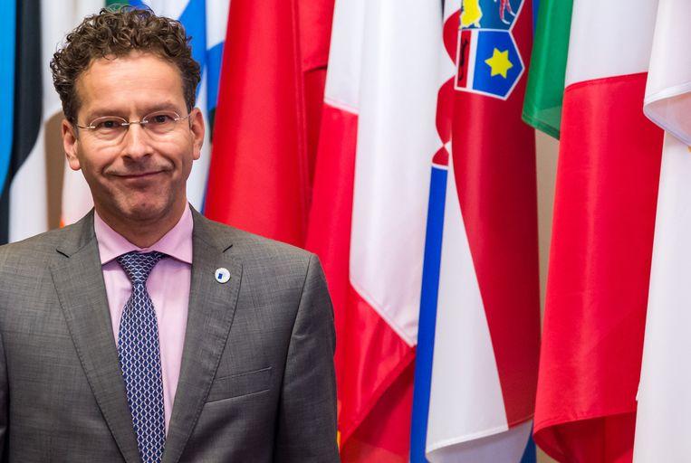 Jeroen Dijsselbloem hoopt herkozen te worden als voorzitter van de eurogroep. Beeld AP
