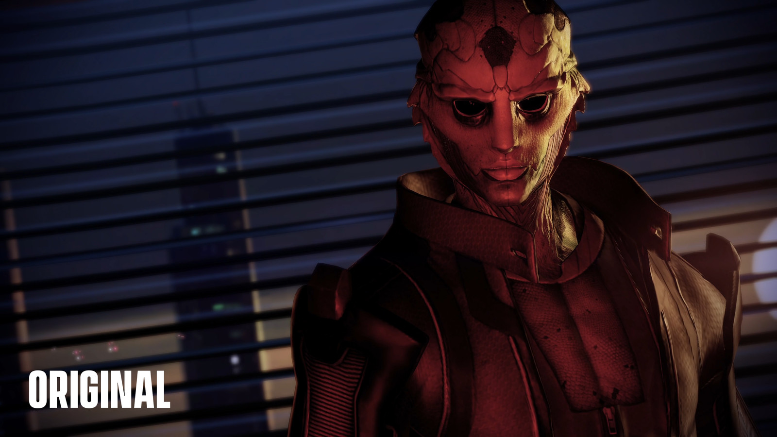 Ter vergelijking: een beeld uit de originele 'Mass Effect 2'...