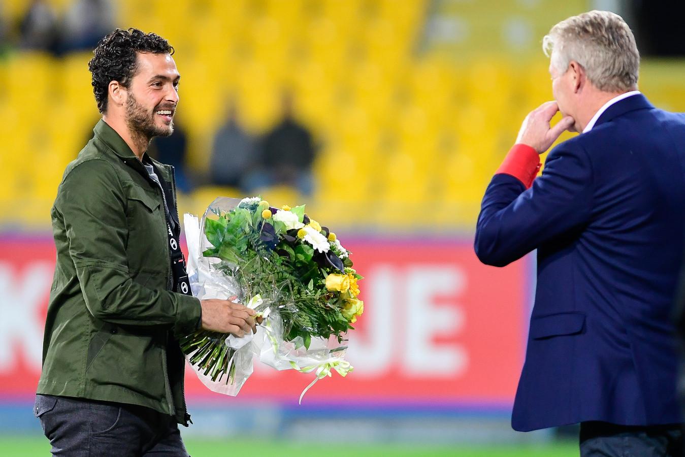 """Onder Peter Maes (r.) beleefde Koen Persoons in Lokeren de beste periode uit zijn carrière. """"Het waren topdagen voor de club en mijn hoogdagen als voetballer."""""""
