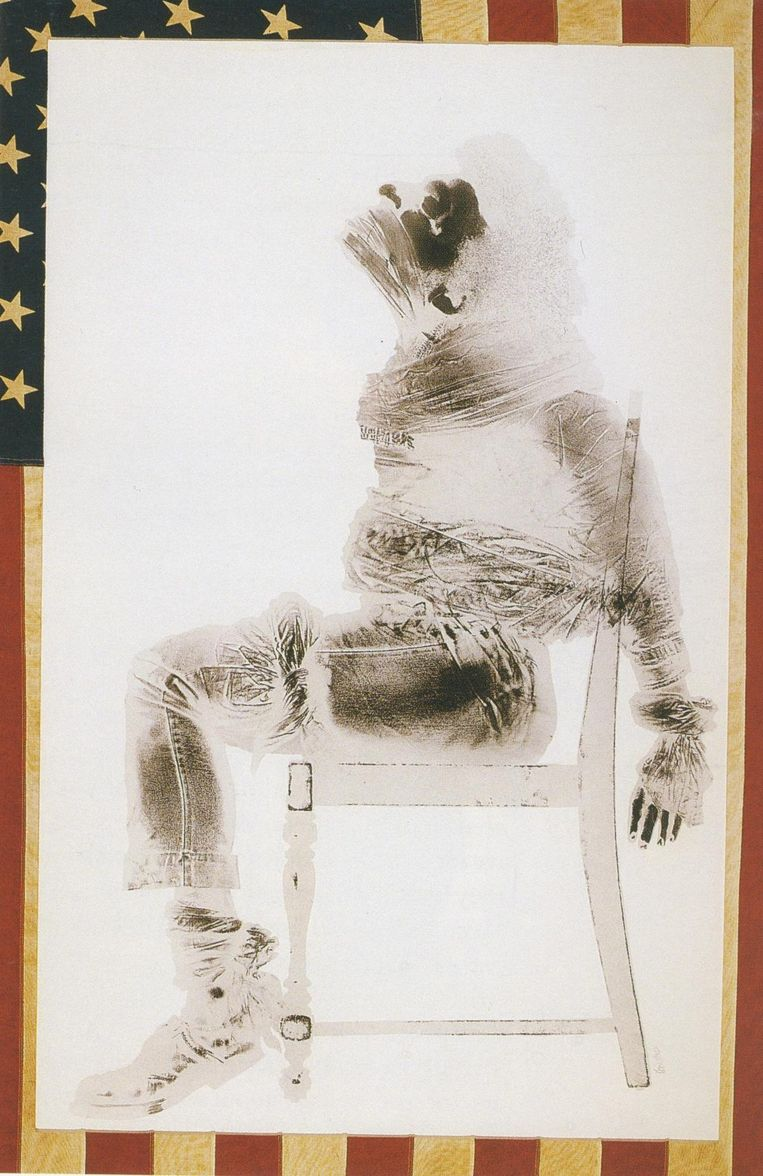 'Injustice Case' van David Hammons (1970). Beeld rv
