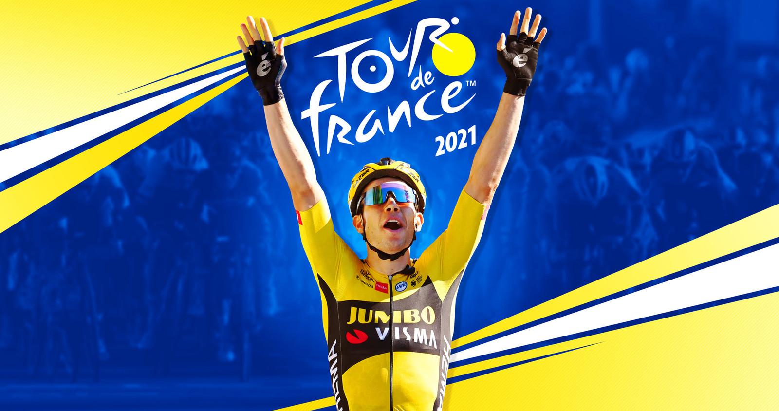 Van Aert op de cover van 'Tour de France 2021'.