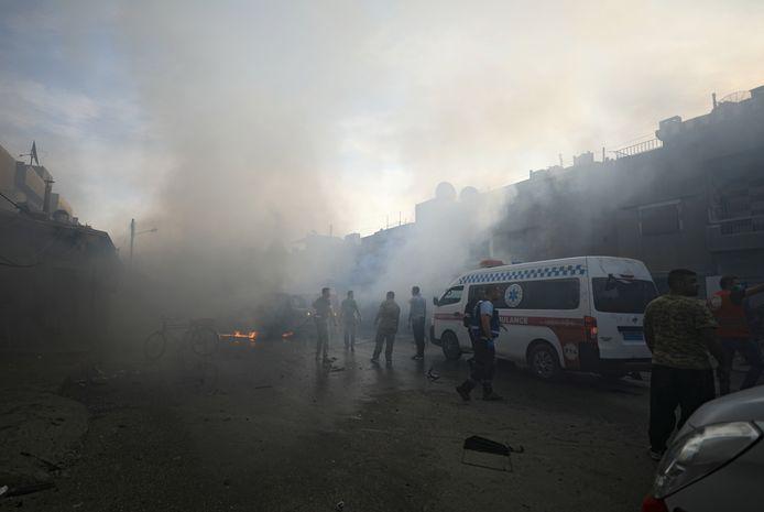 De stad Qamishli werd gebombeerd door Turkije, maar IS eiste er vandaag ook een aanslag op.