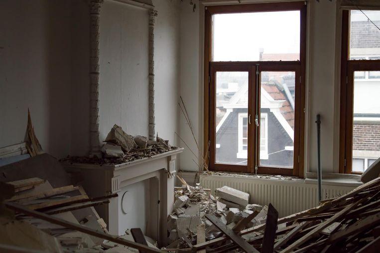De woning is grotendeels in verbouwing. Beeld Jelle de Ru