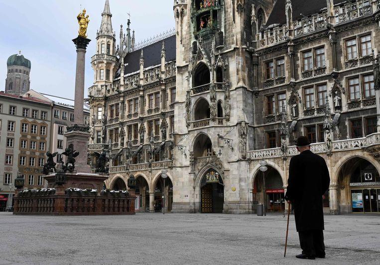 De lockdown in Duitsland zal naar verwachting van bondskanselier Angela Merkel tot half april duren. Beeld AFP