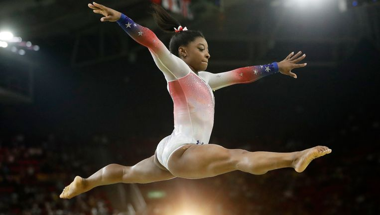 De Amerikaanse turnster Simone Biles. Beeld ap