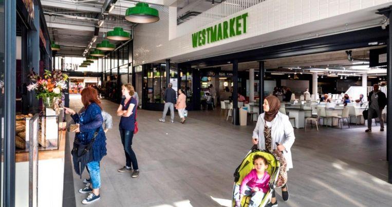 De pas geopende Westmarket aan het Osdorpplein, de voormalige Shopperade Beeld Kroonenberg Groep