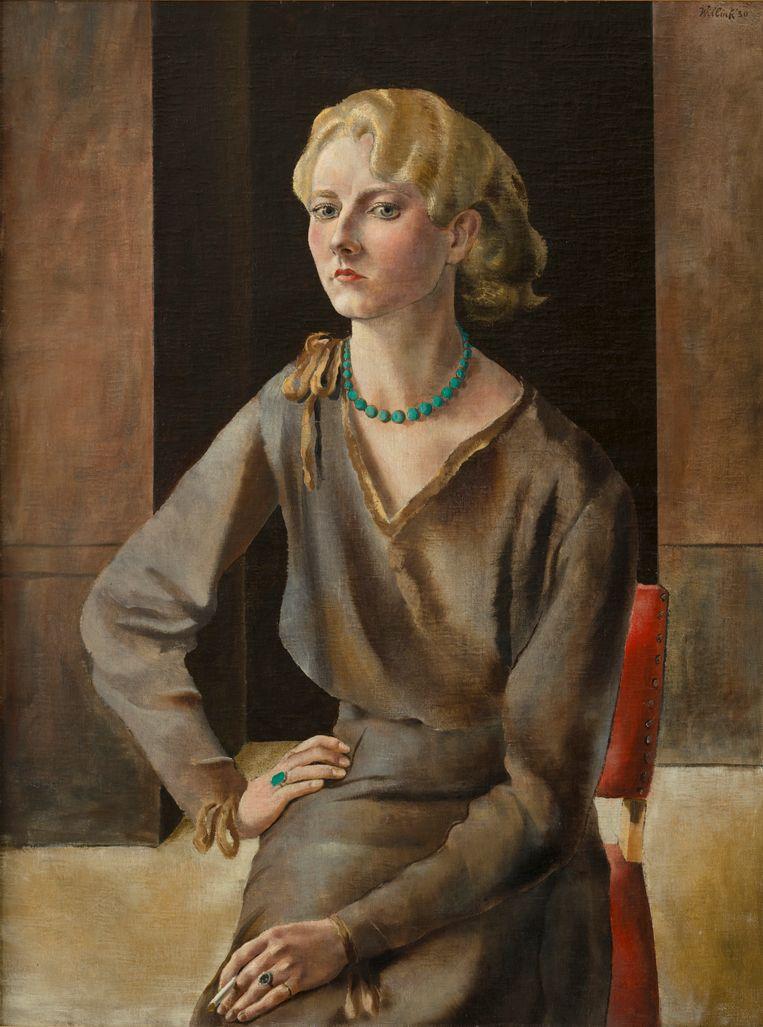 'Portret van Wilma Jeuken', 1930. Beide door Carel Willink. Beeld RV