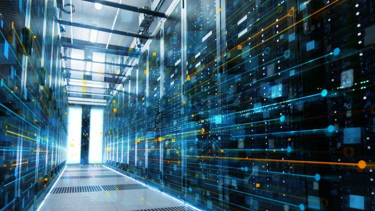 Beeld van een datacentrum. Grote bedrijven gebruiken big data om bijvoorbeeld hun klanten te categoriseren. Beeld
