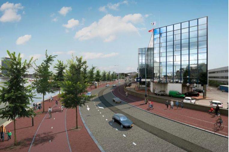 Een impressie van de nieuwe situatie Beeld Gemeente Amsterdam