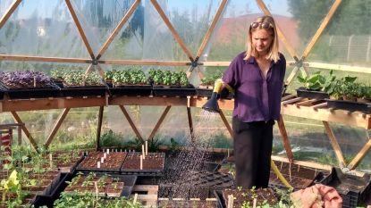 """Heleen kweekt en verkoopt eetbare planten en kruiden op terrein van gesloopt Ottenstadion: """"Die berg betonpuin sprak me aan"""""""