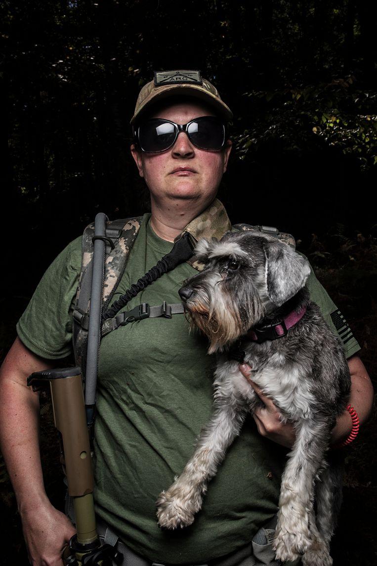 Militielid Tammie (32).  Beeld © Espen Rasmussen/Verdens Gang/Panos Pictures