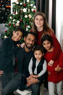 Ouzy en partner Sara en kinderen Zackariah, Noa en Isayah.