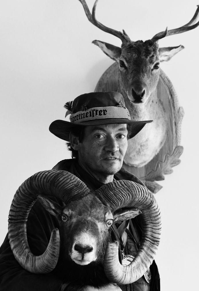 Martin Wierks uit Tricht met enkele jachttrofeeën