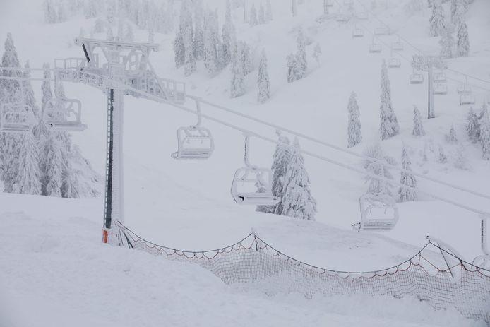 Archieffoto van het skigebied.