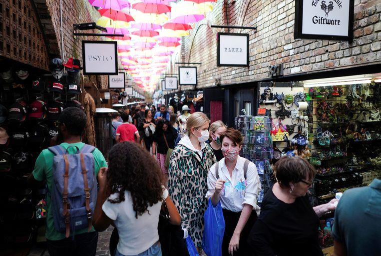 De Stables Market in Londen, afgelopen weekend.  Beeld Reuters
