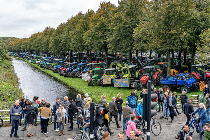 Het Boerenprotest in Den Haag.