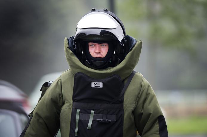 Ter illustratie: De Explosieven Opruimingsdienst is ter plaatse in Zutphen.
