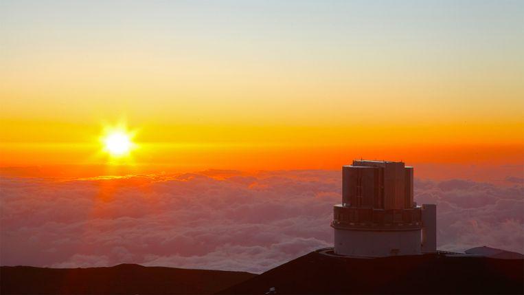 De Japanse Subaru-telescoop op Mauna Kea, Hawaii, waarmee Mike Brown jacht maakt op Planeet 9. Beeld NAOJ