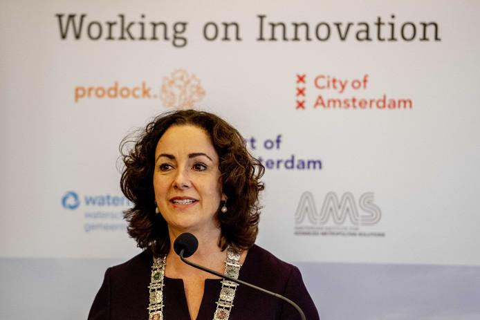 Burgemeester Femke Halsema van Amsterdam