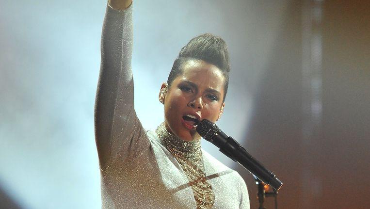 Alicia Keys op de MTV Awards van 9 november. Beeld Getty Images for MTV