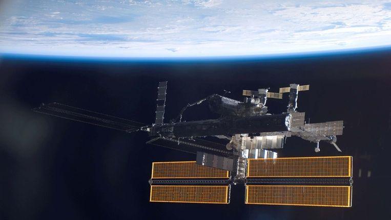 Het Internationale Ruimtestation ISS Beeld AFP